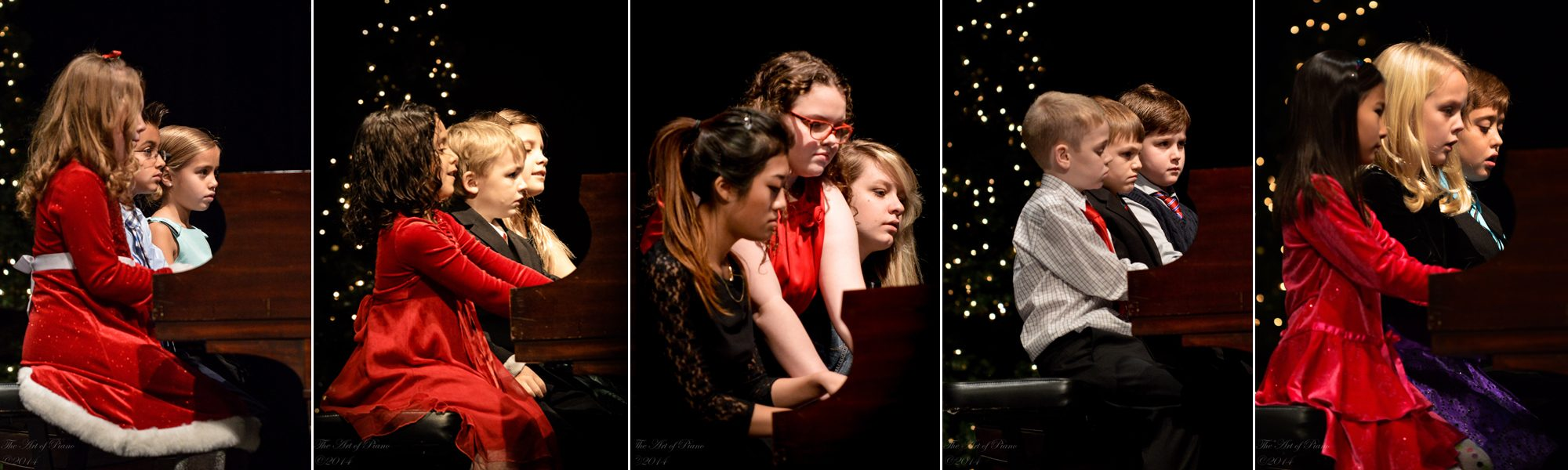 The Art of Piano student trios at the 2014 Winter Recital